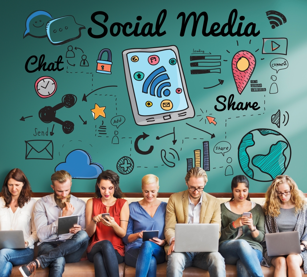 Social Media Networking Global Communications Connection Concept